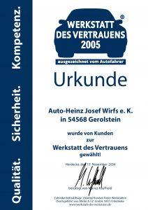 Urkunde_Mechanik 2005